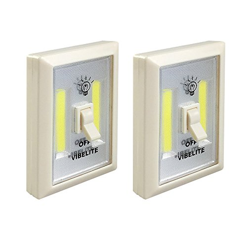 Battery Operated LED Night lights, COB LED Cordless Light Switch, Under Cabinet, Shelf, Closet, Nightlight & Kitchen RV & Boat (2-pack) (Kitchen Cabinet Light Switch compare prices)