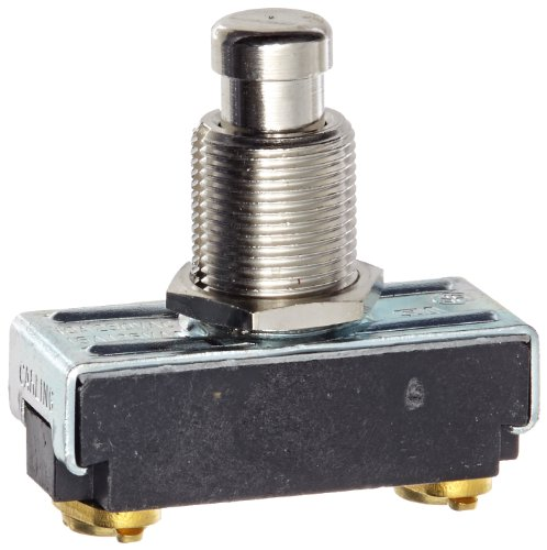 Nsi Industries 76080Ps Push Button Switch, On Off Circut Function, Spst N.C., Brass/Nickel Actuator, 15/10 Amps At 125/250 Vac