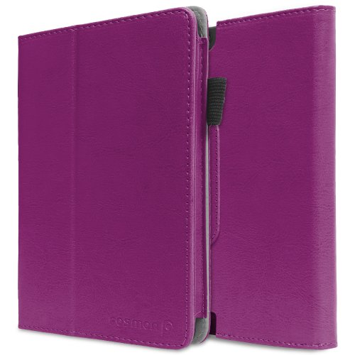 Review:  Fosmon OPUS Slim Leather Folio Cover Case with Stand, Hand-Strap, Card and Stylus Slots for Kindle Fire HDX 7 Tablet 2013 - Retail Packaging (Purple)