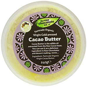 The Raw Chocolate Organic Virgin Cold Pressed Cacao Butter 240 g