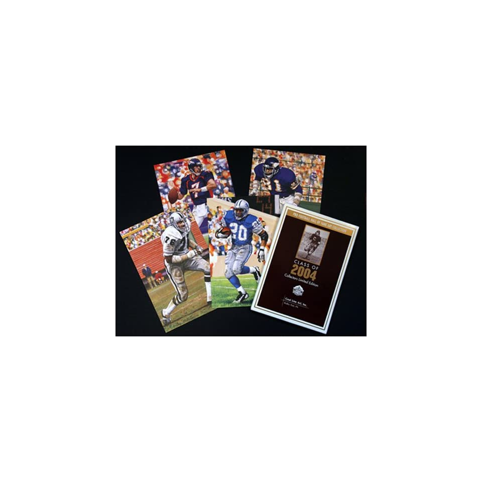 NFL Pro Football Hall of Fame Goal Line Art Cards Class of 2004