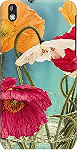 DailyObjects Vintage Toned Poppy Flower Case For HTC Desire 816