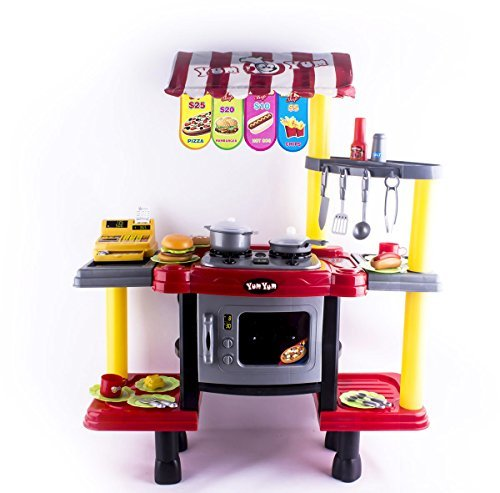 deao-2in1-kids-kitchen-fast-food-shop-stand-kitchen-play-set-for-role-play-game-includes-accessories