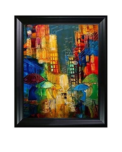 Justyna Kopania Street (Friends And Lovers) Framed Canvas Print