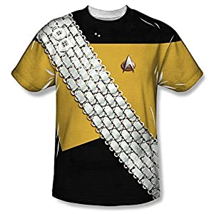 Star Trek Worf Uniform Costume All Over Print Front T-Shirt