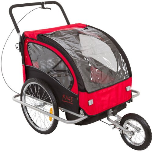 2-In-1 Bicycle Trailer & Stroller With Brakes