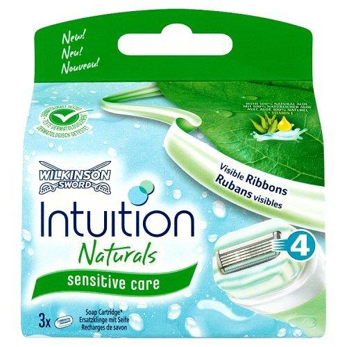 """Wilkinson Sword-""""Intuition Naturals ricariche per lama di rasoio a 3 lame"""