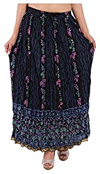 Magnus Women's Long Skirt (SKT471, Black, S)