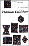 Practical Criticism: A Study Of Literary Judgment (0156736268) by Richards, I. A.