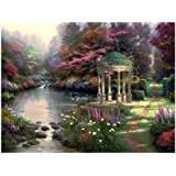 Plaid Thomas Kinkade Series Paint by Number Kit, 20-Inch by 16-Inch, Garden of Prayer