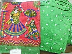 Moksh Women's Bandhani Dress Material
