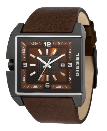 DieselDZ1343 Gents Brown Leather Strap Brown Dial Watch
