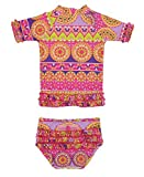 RuffleButts Divali Voile con volantes Rash Guard Bikini - 18 - 24 M Tamaño: 18 - 24 meses (Baby/Babe/Infant - Little Ones)