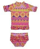 RuffleButts divali con volantes Rash Guard Bikini-12-18M Tamaño: 12-18meses (Baby/Babe/Infant-Little Ones)