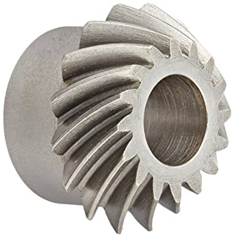 "Boston Gear SS142-1P Spiral Bevel Pinion Gear, 2:1 Ratio, 0.500"" Bore, 14 Pitch, 16 Teeth, 35 Degree Spiral Angle, Steel"