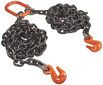 Mazzella DOG Welded Alloy Chain Sling, Fixed-Leg, Grade 80, Load Capacity at 60°