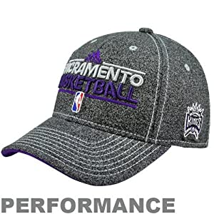 NBA adidas Sacramento Kings Authentic Performance Practice Graphic Flex Hat -... by adidas