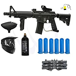 Buy Tippmann US Army Alpha Black Elite M-FDP Paintball Gun Player Package by Tippmann