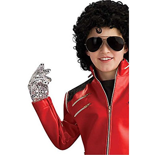 Michael Jackson Silver Sequined Child Glove - One Size