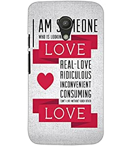 MOTOROLA MOTO G2 LOVE TEXT Back Cover by PRINTSWAG