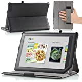 MoKo Slim-Fit Multi-angle Folio Cover Case for Barnes & Noble Nook HD+ 9-inch tablet (Full HD Plus), BLACK (with Smart Cover Auto Wake/Sleep Feature)-Lifetime Warranty