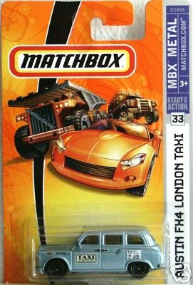 Matchbox 2007 -#33 Austin FX4 London Taxi Blue 1:64 Scale Collectible Die Cast Car