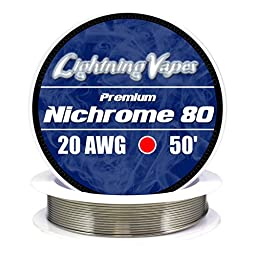 Genuine Lightning Vapes 20 AWG Nichrome 80 Wire 50\'
