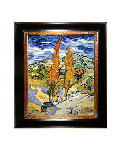 Vincent van Gogh Two Poplars on a Hill Framed Hand-Painted Oil Reproduction