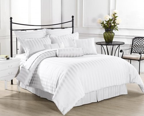 White Damask Bedding 7296 front