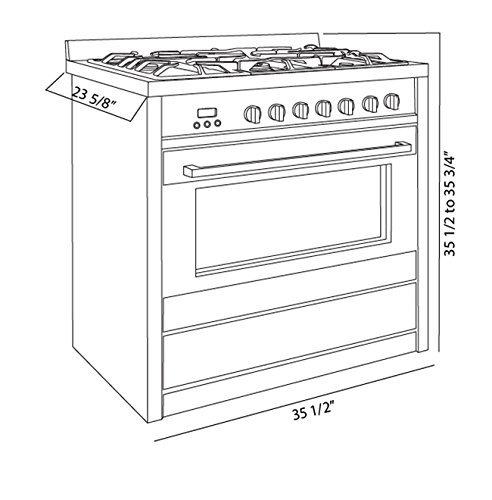 "Cosmo 36"" Freestanding/Slide-In Gas Range (Cos-965Ag)"