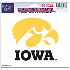 Buy Iowa Hawkeyes Official NCAA 4.5x6 Car Window Cling Decal by WinCraft