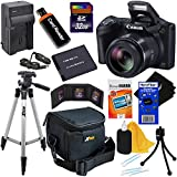 Canon-Powershot-SX410-IS-20-MP-Digital-Camera-with-40x-Optical-Zoom-and-720p-HD-Video-Black-NB-11L-Battery-ACDC-Battery-Charger-9pc-Bundle-32GB-Accessory-Kit-W-HeroFiber-Cleaning-Cloth