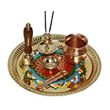 Brass Pooja Thali Diwali Decoration Diwali Gift Item Brass Pooja Item Home Decor Item Set Of 6