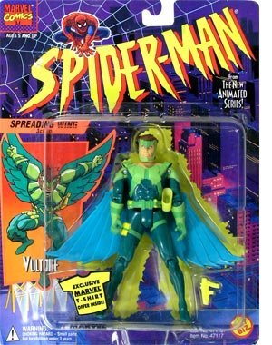 VULTURE * Spreading Wings Action * 1994 Spider-Man The New Animated Series Action Figure - 1