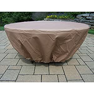 Oakland living gas fire pit weather cover for Amazon prime fire pit