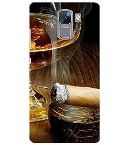 Evaluze cigar Printed Back Cover for HONOR 7