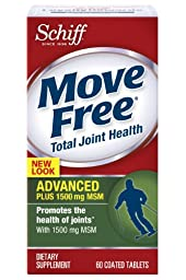 Move Free Glucosamine Chondroitin MSM and Hyaluronic Acid Joint Supplement, 60 Count