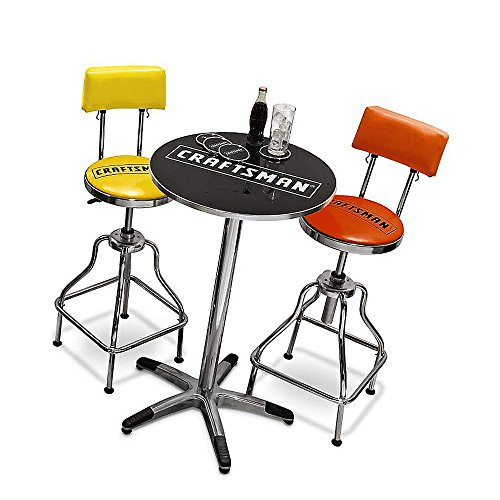 Craftsman Chrome And Vinyl Hydraulic Stool Comfortable