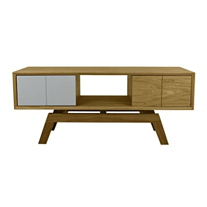 Fusion Living Chêne moyen danois et gris Mix Media Unit