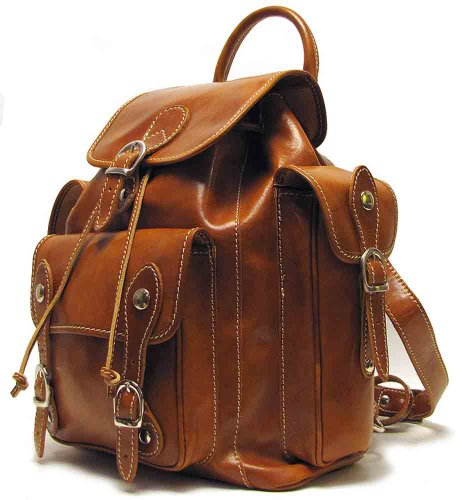 B0079JZYQK Roma Backpack Color: Olive (Honey) / Brown