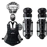 アシックス キャッチャーズギア4点セット ブラック×シルバー(一般軟式用キャッチャー防具)