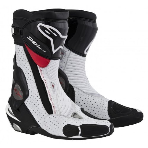Alpinestars SMX Plus Vented Boots , Gender: Mens/Unisex, Distinct Name: Black/White, Primary Color: White, Size: 12.5 2221013-122-48