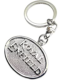 Techpro Royal Enfield Silver Metal Key Chain (Silver)