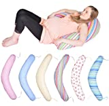 Maternity/pregnancy/nursing support body pillow/cushion with tie cords (pattern: stripes_2nd version)