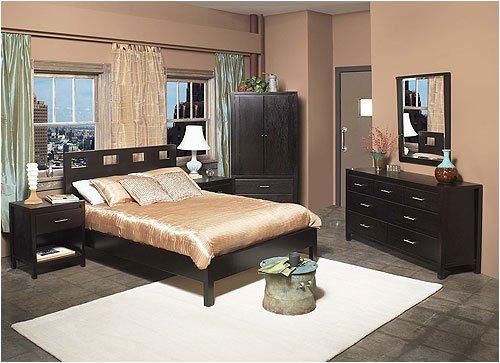 Modus Furniture International Riva Platform Series/NEVXXX Riva Platform Bedroom Set with Nevis Acces