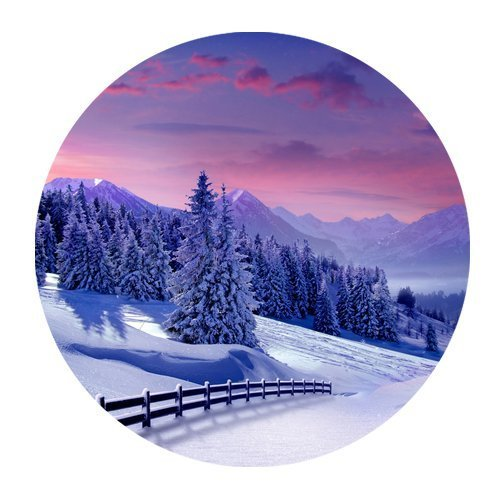 awesomely-evergreen-fashion-winter-landscape-snow-world-christmas-tree-custom-round-mousepad-persona