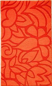 Esprit Badteppich Flower Shower - orange - 55 x 65 cm