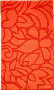 Badematte Flower Shower Größe: 55 cm B x 65 cm T, Farbe: Orange