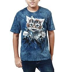 The Mountain Kid's T_Shirt Ginger Kitten Breakthru_Blue_Small
