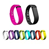 New 2015 10pcs Small Black Replacement Wrist Bands With Clasps for Fitbit FLEX Only /No tracker/ Wireless Activity Bracelet Sport Wristband Fit Bit Flex Bracelet Sport Arm Band Armband (10ColorsBands-Small Size)
